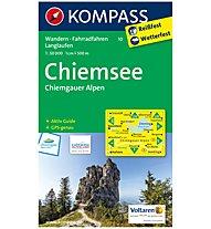 Kompass Karte Nr: 10 Chiemsee, Chiemgauer Alpen 1:50.000, 1:50.000