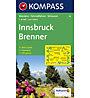 Kompass Carta N.36: Innsbruck Brennero - 1:50.000, 1:50.000