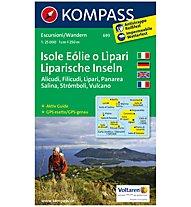 Kompass Karte N.693: Isole Eólie o Lìpari 1:25.000, 1:25.000
