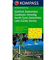 Kompass Carta N. 259 Sudtirol, Dolomiten, Gardasee, Venedig, German/English