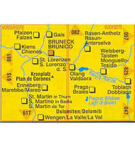 Kompass Karte Nr. 045 Brunek - Kronplatz 1:25.000