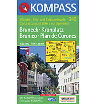 Kompass Carta N° 045 Brunico - Plan de Corones 1:25.000, 1:25.000