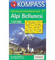 Kompass Carta N° 77 1:50.000, 1:50.000