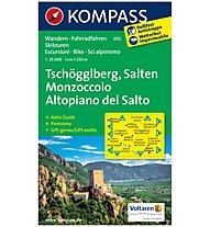 Kompass Carta Nr. 055 Monzoccolo, Altopiano del Salto 1:25.000, 1:25.000
