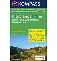 Kompass Karte Nr. 075 Altopiano di Pinè 1:35.000, 1:35.000