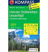 Kompass Carta N° 47 Lienzer Dolomiten - Lesachtal (Dolomiti di Lienz), 1: 50.000