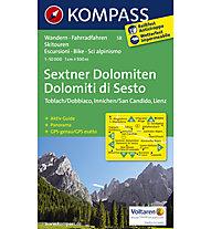 Kompass Karte Nr. 58 Sextner Dolomiten, 1: 50.000