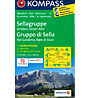 Kompass Carta N° 59 Gruppo di Sella - Val Gardena, Alpe di Siusi, 1: 50.000