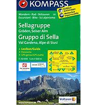 Kompass Karte Nr. 59 Sellagruppe - Gröden, Seiser Alm, 1: 50.000