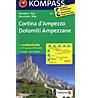 Kompass Carta N° 617 Cortina D´Ampezzo - Dolomiti Ampezzane, 1: 25.000