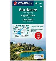 Kompass Carta Nr. 697 Lago di Garda e dintorni 1: 35.000 - 3 carte, 1: 35.000