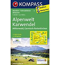 Kompass Karte Nr. 6 Alpenwelt Karwendel, Mittenwald, Garmisch-Partenkirchen, 1:50.000