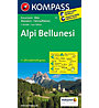 Kompass Carta N° 77 Alpi Bellunesi, 1: 50.000