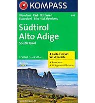Kompass Alto Adige - Set 4 carte N.699, 1:50.000