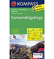 Kompass Carta Nr. 26 Karwendelgebirge 1: 50.000, 1: 50.000