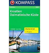 Kompass Karte Nr. 2900 Kroatien Dalmatinische Küste, 1: 100.000