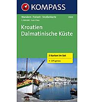 Kompass Carta N° 2900 Kroatien Dalmatinische Küste (Croazia Costa Dalmata), 1: 100.000