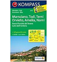 Kompass Karte N.2472: Marciano, Todi, Terni, Amelia, Narni 1:50.000, 1:50.000