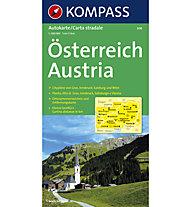 Kompass Carta N.308: Austria - 1:300.000 Carta stradale, 1:300.000