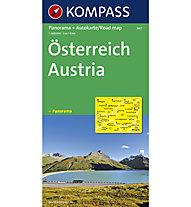 Kompass Carta N.340: Austria - 1:600.000 Panorama + stradale, 1:600.000