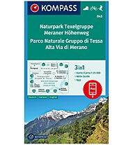 Kompass Karte Nr. 043 Naturpark Texelgruppe, Meraner Höhenweg 1:25.000, 1:25.000