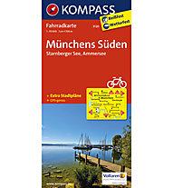 Kompass Karte Nr. 3120 Münchens Süden, Starnberger See, Ammersee, 1:70.000