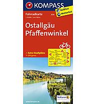 Kompass Karte Nr. 3124 Ostallgäu, Pfaffenwinkel 1:70.000, 1:70.000