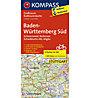 Kompass Karte Nr. 3711 Baden-Württenmberg Süd 1:125.000, 1:125.000