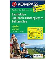 Kompass Carta N.30: Saalfelden, Saalbach-Hinterglemm, Zell am See 1:50.000, 1:50.000