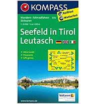Kompass Karte N.026: Seefeld in Tirol, Leutsch 1:25.000, 1:25.000
