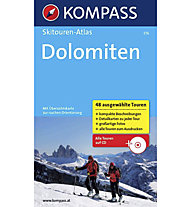 Kompass Skitouren-Atlas Dolomiten, German