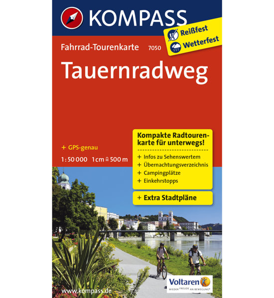 Kompass F1k3ljct 000 Tauernradweg 150 Carta Nr7050 DIY2E9WH