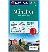 Kompass Karte Nr. 184 München und Umgebung 1:50.000, 1:50.000