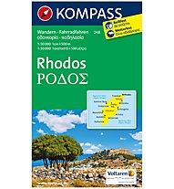 Kompass Carta Nr. 248 Rhodos 1:50.000, 1:50.000
