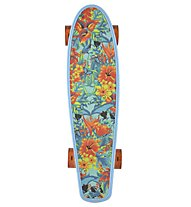 "Kryptonics 22,5"" Original Torpedo Skateboard, Blue Floral"