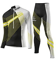 Löffler Elastic Outfit Cross-Country Ski Worldcup - tuta da sci di fondo - uomo, Black/Yellow