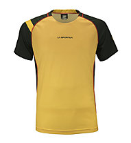 La Sportiva Apex - T-shirt trail running - uomo, Black/Yellow