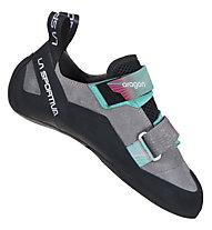 La Sportiva Aragon - scarpette da arrampicata - donna, Grey/Green