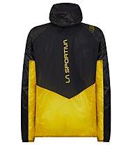La Sportiva Blizzard Windbreaker - giacca a vento - uomo, Black/Yellow