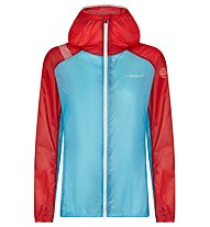 La Sportiva Briza Windbreaker Jkt - Windstopper - Damen, Light Blue/Red