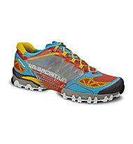 La Sportiva Bushido - scarpe trail running - donna, Coral/Malibu Blue