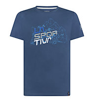 La Sportiva Cubic - T-Shirt Klettern - Herren, Blue/Light Blue