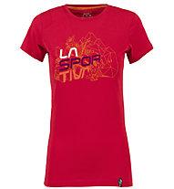 La Sportiva Cubic - T-Shirt Klettern - Damen, Red