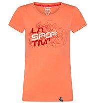 La Sportiva Cubic - T-shirt arrampicata - donna, Red