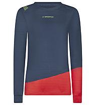 La Sportiva Dash - maglia a maniche lunghe - donna, Blue/Red