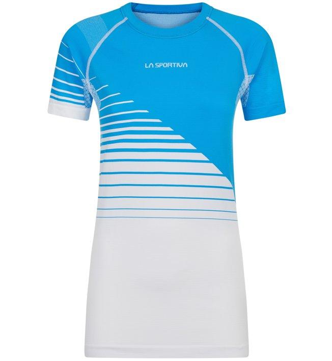 La Sportiva Escape - Shirt Trailrunning - Damen, Light Blue/White