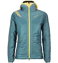 La Sportiva Estela 2.0 Primaloft - Giacca con cappuccio alpinismo - donna, Blue/Yellow