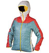 La Sportiva Estela giacca PrimaLoft donna (2014/15), Ice Blue/Coral