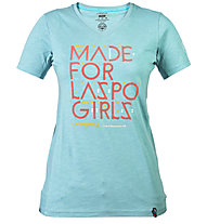 La Sportiva For Laspo Girls - Klettershirt - Damen, Ice Blue