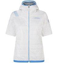 La Sportiva Glow - giacca sci alpinismo - donna, White/Blue